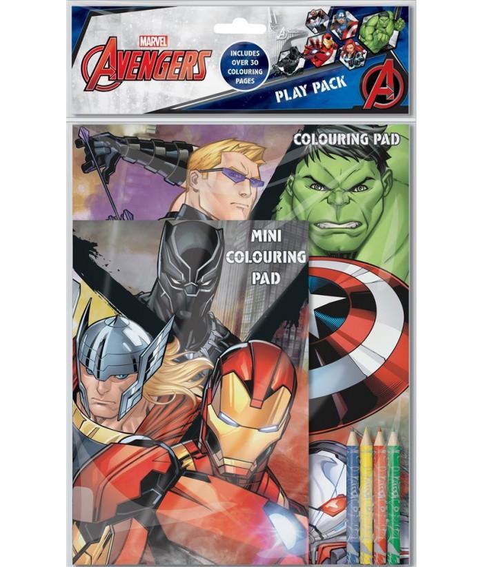 Avengers piešimo rinkinys (30 piešimo lapų ir 4 pieštukai)