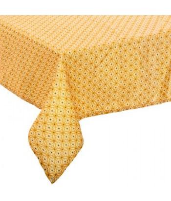 Dėmėms atspari geltona raštuota staltiesė PATY 240x140cm