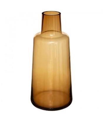 Rudo stiklo vaza EPAULE AMBRE 40cm