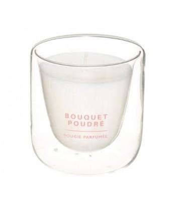 Parfumuota žvakė BOUQUET POUDRE dvigubo stiklo inde 130g