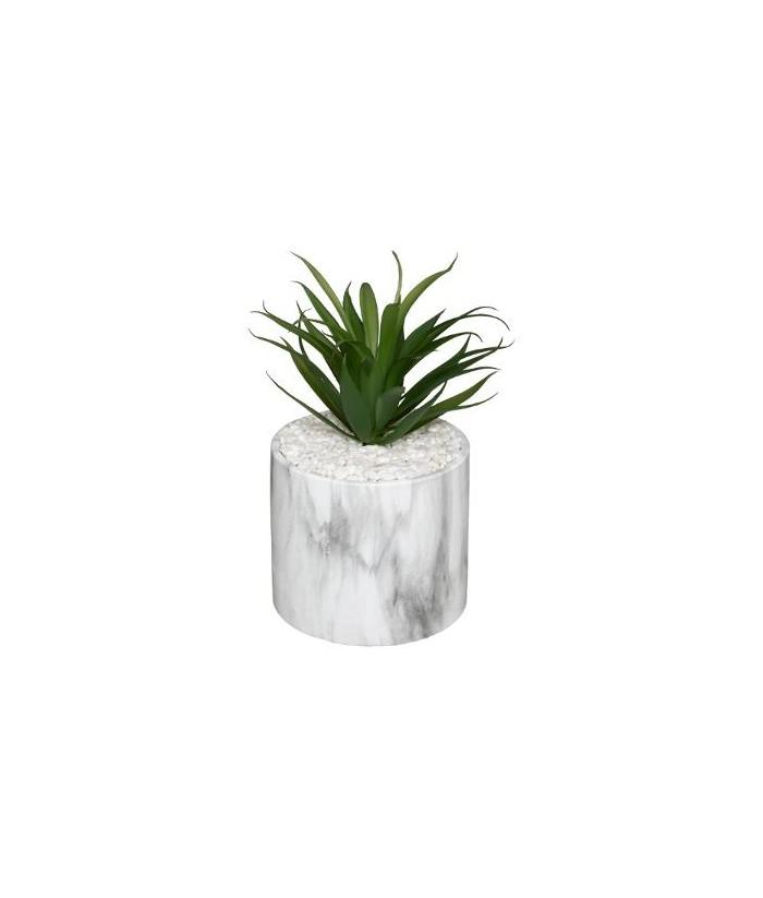 Dirbtinis augalas marmuriniame vazonėlyje 17.5cm
