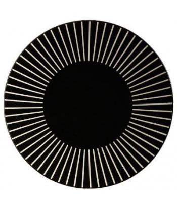 Akmens masės pietų lėkštė BLACK SUN 27cm