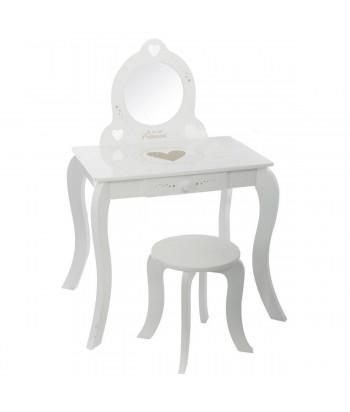 Vaikiškas kosmetinis staliukas su kėdute