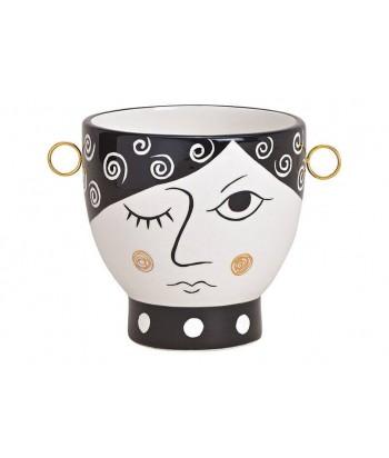 Keramikinis vazonas MOODY FACE 17x13cm