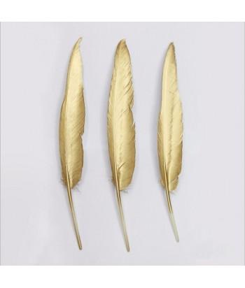 Auksinės žąsies plunksnos 35-40cm (3vnt)
