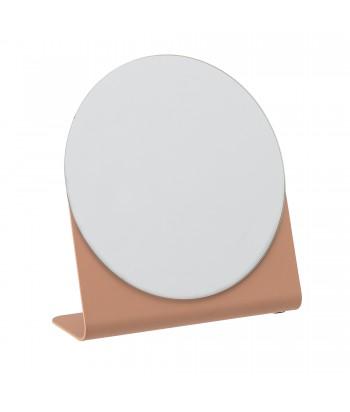 Pastatomas veidrodis SANDRA terakota spalvos metaliniu rėmu 16cm