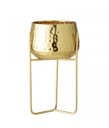 Metalinis aukso spalvos vazonas ant stovo RUSSEL 23cm