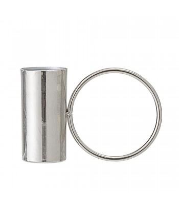 Sidabro spalvos metalinė žvakidė WAYNE 8cm
