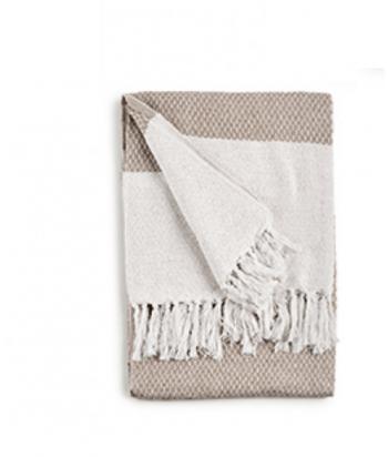 Medvilninis pledas NATURAL WHITE 160x130cm