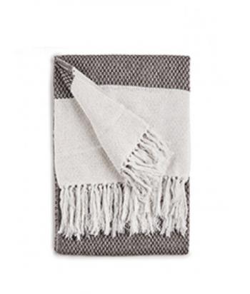Medvilninis pledas BROWN WHITE 160x130cm
