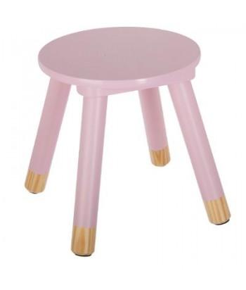 Rožinė vaikiška taburetė 24x27cm