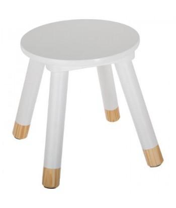 Balta vaikiška taburetė 24x27cm