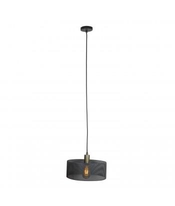 Pakabinamas šviestuvas tinkliniu pilku gaubtu 22cm