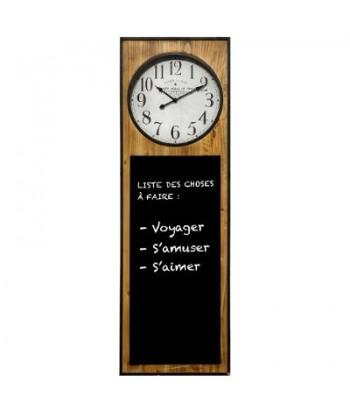 Laikrodis su juoda kreidine lenta CHALK 115x37cm