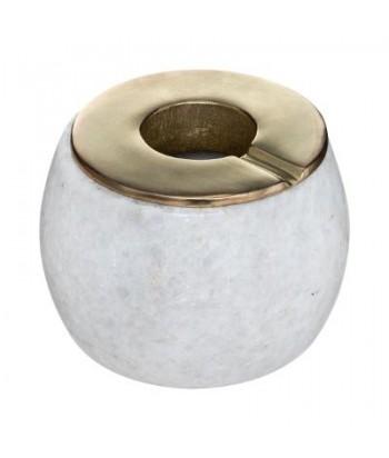 Balto marmuro peleninė žalvariniu dangteliu 12x9.5cm