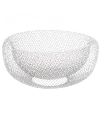 Metalinio tinklo dubenėlis 27cm baltas