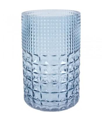 Melsvo stiklo vaza MAGAZZINO 13x21cm
