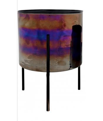 Stiklinis vazonas PEACOCK M ant metalinio stovo 12.5cm