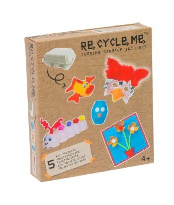 Re-Cycle-Me rankdarbių rinkinys EGG BOX CREATURES