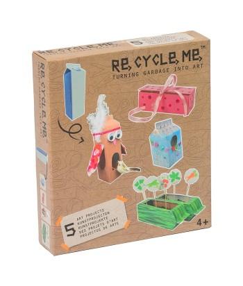 Re-Cycle-Me rankdarbių rinkinys MILK CARTOON GIRLS