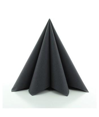Servetėlės Linclass® Airlaid BLACK 40x40cm (12vnt)