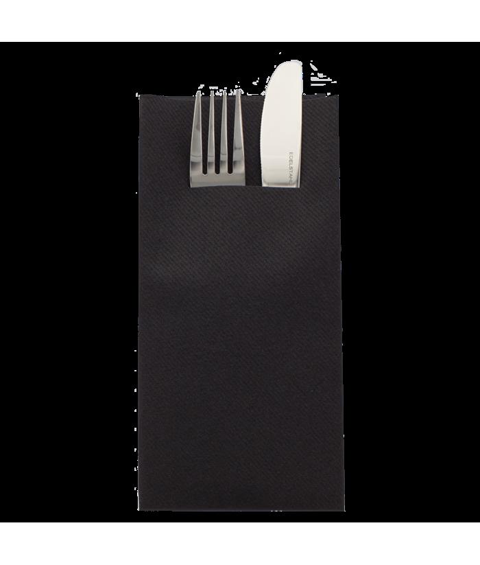Servetėlės įrankiams Linclass® Airlaid BLACK 40x40cm (12vnt)