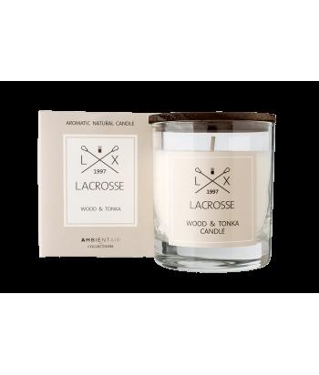 Lacrosse WOOD & TONKA natūralaus sojų vaško žvakė 200g