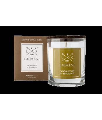 Lacrosse SANDALWOOD & BERGAMOT natūralaus sojų vaško žvakė 200g