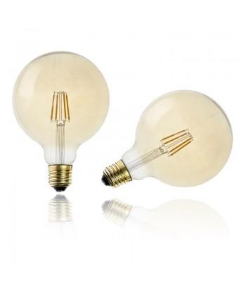 Home Deco Factory LED lemputė G125, E27, 2W, šilta balta spalva