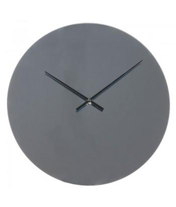 Minimalistinis veidrodinis pilkos spalvos sieninis laikrodis SMOKY GRAY 30cm