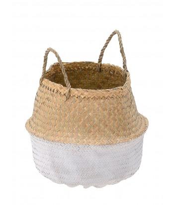L dydžio pintas jūros žolių krepšys NATURAL / WHITE 40cm