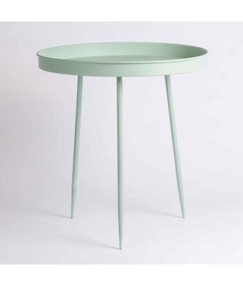 Metalinis žalios spalvos šoninis staliukas VALLICA GREEN 55cm