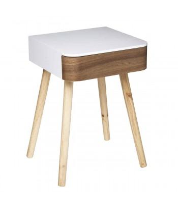 Kvadratinis naktinis staliukas su stalčiuku DONA
