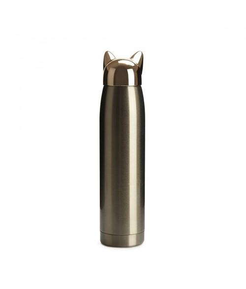 Aukso spalvos nerūdijančio plieno termo gertuvė CAT 320ml