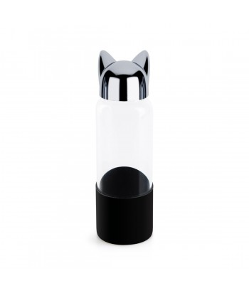 Borosilikatinio stiklo gertuvė juodu silikoniniu laikikliu CAT 350ml
