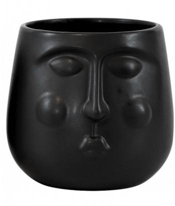 Juodas keramikinis vazonas...