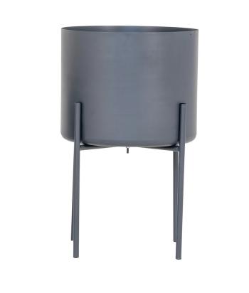 Pilkas metalinis vazonas PAVIA L 50cm