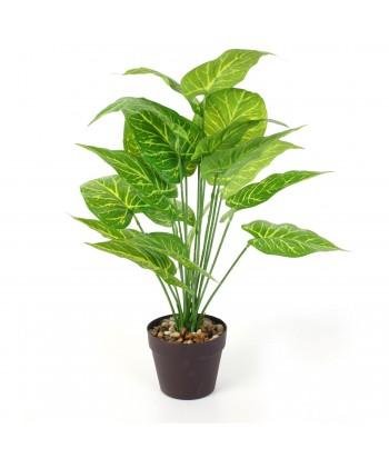 Dirbtinis augalas plastikiniame vazonėlyje su akmenimis 55cm
